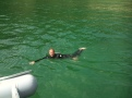 Dave swimming in Fermain Bay, Guernsey