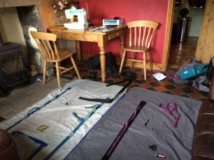 New dinghy cover under construction