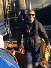 Dave in the lock in Hull