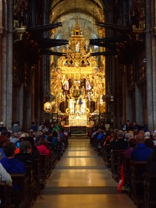 Cathedral at Santiago de Compostela - quite a lot of bling