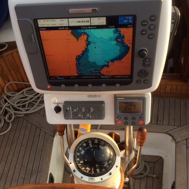 Boat sailing itself