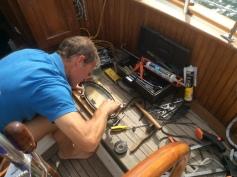 The galley window no longer leaks
