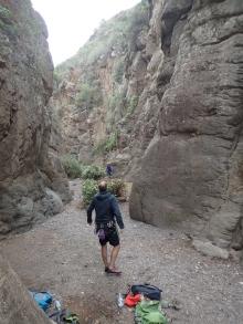 Climbing near Arico