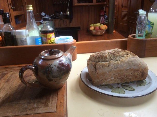 Tea and freshly made bread
