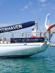 Skipper Oliver heading off