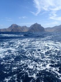 Leaving Mindelo, Cape Verde