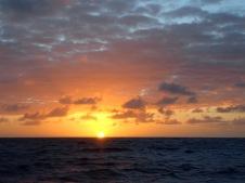 Sunset mid Atlantic