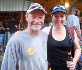 Cold beers at the finish