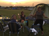 Sundowners at Lepe Campsite