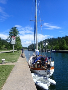 Lock / canal into Bras D'Or Lakes, Cape Breton
