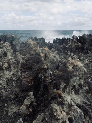 Spiky volcanic rocks