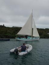 Playing traditional Bahamian Boats