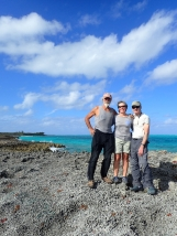 Carlos, Lee and H on an explore of the south of Man o War Cay