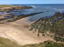 Tide out at Berwick Beach