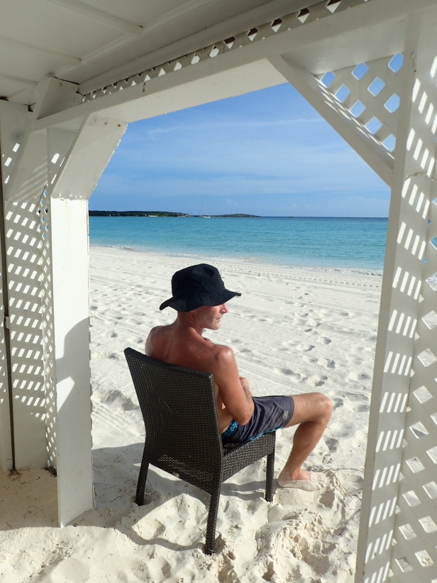 Chilled man....with grace in the distance