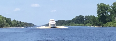 Coming fast up the ICW