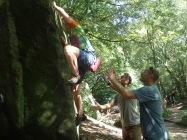 Boys bouldering