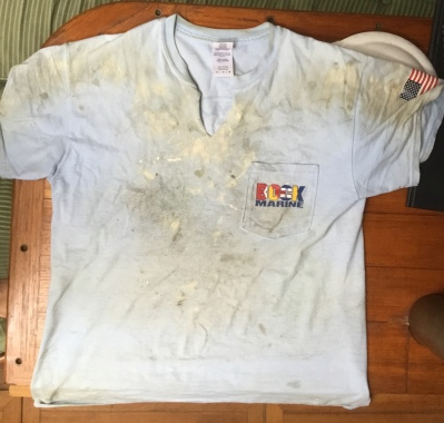 Clean work shirt today? Maybe tomorrow...