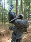 Pelican sculpture