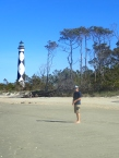 8 mile walk at Cape Lookout ...he loved it