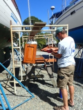 Varnishing again....oh to have an aluminium boat