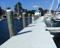 The marina here