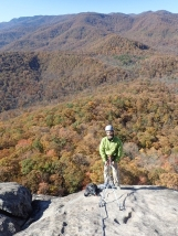 Tripp on the belay
