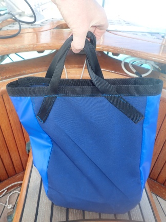 Latest sewing handiwork....dinghy anchor bag