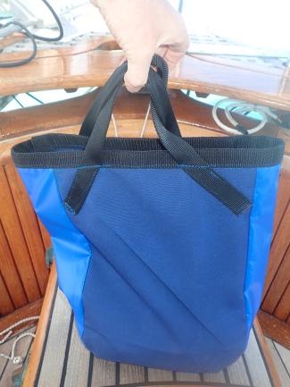 Latest sewing handiwork....dinghy anchor bag