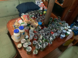 Guessing 1/3 to 1/4 of our tins and dry goods